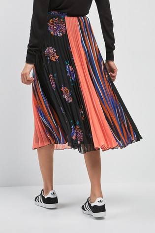 b56a3a7463 Buy Mixed Print Pleated Skirt from Next Ireland