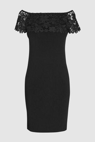 f4be9afc18de2a Buy Black Lace Bardot Dress from Next Kuwait