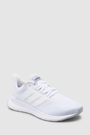 free shipping 06472 df000 White adidas Run Falcon Junior  Youth ...