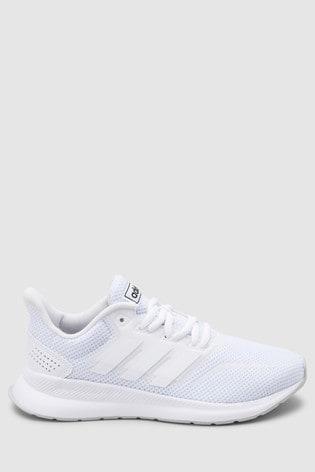 wholesale dealer c5add 36a4d ... White adidas Run Falcon Junior   Youth ...