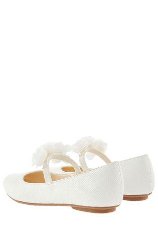 9f9ae60c0cbe Buy Monsoon Ivory Dora Corsage Strap Ballerina from the Next UK ...