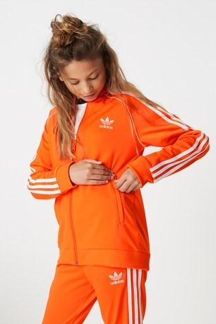 newest 10df7 40faa adidas Originals Orange Superstar Track Top