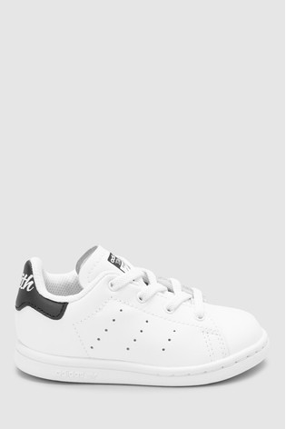 the latest cfff2 3f290 adidas Originals White/Black Stan Smith Infant Trainers