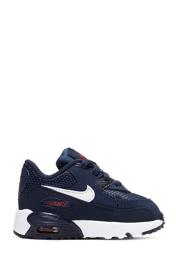 Kupte si Tmavě modré   červené dětské boty Nike Air Max 90 Junior na ... 5fa04d90a4