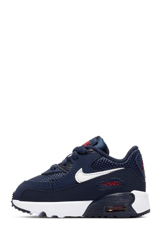 0416b0259d Buy Nike Navy/Red Air Max 90 Junior from the Next UK online shop