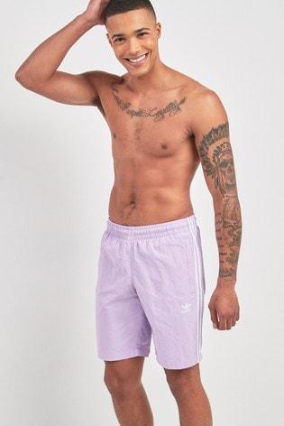 d2e0885ee Buy adidas Originals Purple 3 Stripe Swim Short from the Next UK ...