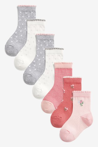 3bcd1360b3d2c Buy Pink 7 Pack Pretty Socks (Older) from the Next UK online shop
