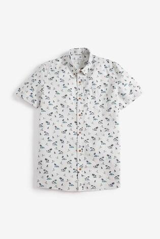 0208ad6cb912 Buy Hawaiian Surfer Print Short Sleeve Shirt from Next Netherlands