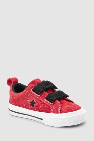 c3f1930cc8d619 Buy Converse Red Infant Dark Star Velcro Trainer from Next Ireland