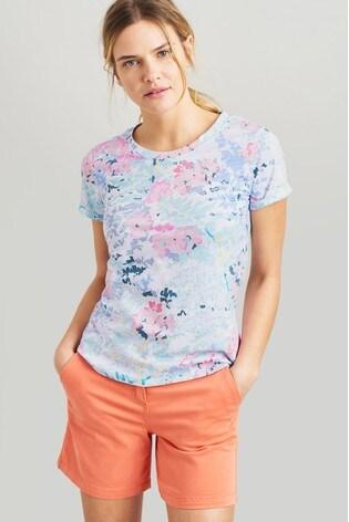 442c30282514d0 Buy Joules Blue Nessa Print Lightweight Jersey T-Shirt from the Next ...
