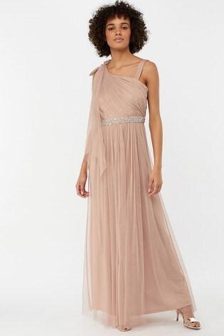 90f876fbfb9 Monsoon Ladies Pink Anouck One Shoulder Maxi Dress