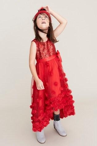 3101dba0 Buy Monsoon Red Ianthe Sparkle Dress from Next Ireland