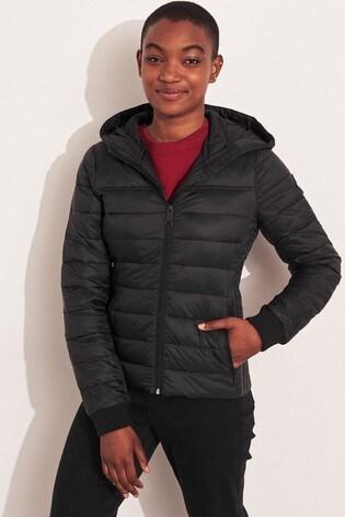 plutôt sympa a3dfa ccf1b Hollister Black Lightweight Padded Jacket