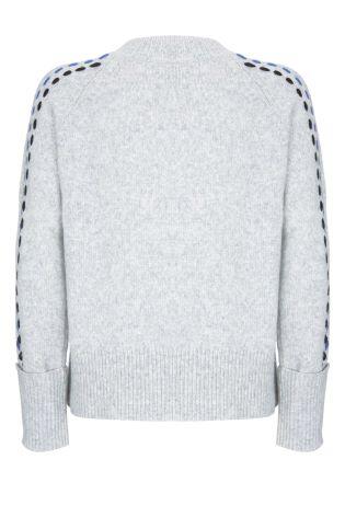 Buy Mint Velvet Grey Ladder Stitch Detail Sleeve Knit From Next Cyprus