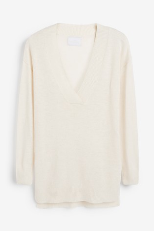 half off 8a9db 0570a Cream Knitted Jumper With Cashmere
