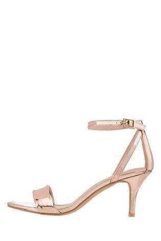 3186b50ae9a5 Buy Monsoon Gold Scarlett Strappy Mirror Metallic Sandal from the ...