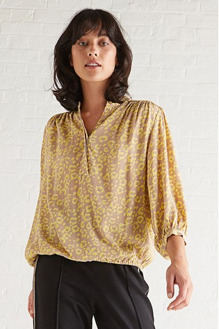 2cc537c4 Buy Oliver Bonas Yellow Animal Print Blouse from the Next UK online shop