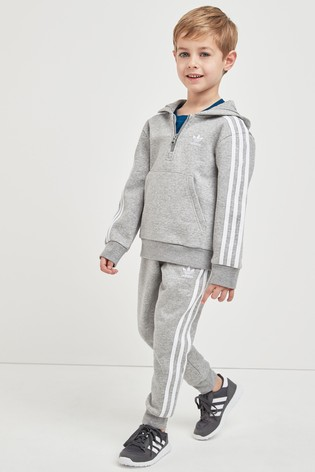 Buy Adidas Originals Little Kids Grey Hooded Tracksuit From The Next