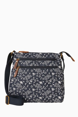 99db46f82 Buy FatFace Blue Posy Bee Canvas Cross Body Bag from the Next UK ...