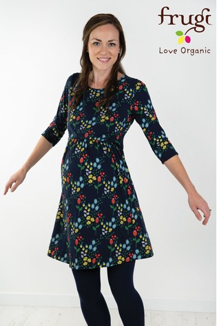 d5590a6524f Buy Frugi Blue Floral Jersey Smock Dress from the Next UK online shop