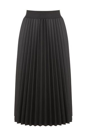 ade95bb19a Buy Oasis Black Faux Leather Pleated Midi Skirt from Next Ireland