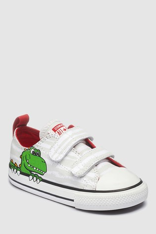 Buy Converse Infant White Dino Chuck Ox Trainer from Next Netherlands 95156f86da