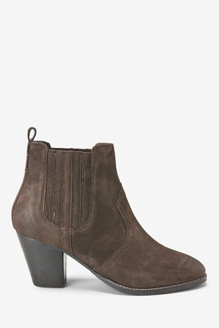 5feaaaf8fe5 Chocolate Regular/Wide Fit Forever Comfort® Western Ankle Boots