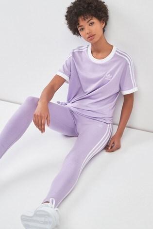 3 stripe adidas originals purple