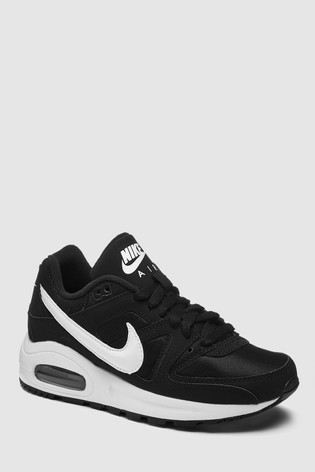 meilleure sélection 4763a 60704 Nike Black/White Air Max Command Youth Trainers