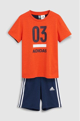 best website ca76d 1e5d3 ... adidas Little Kids Active Orange 03 Short Set ...
