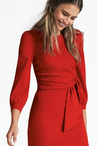 Buy Boden Red Josephine Ponte Dress From The Next Uk Online Shop