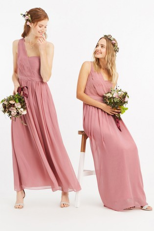 Buy Oasis Pink One Shoulder Maxi Dress From Next Ireland