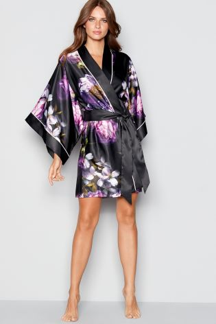 c571007e0b1a1 Buy B by Ted Baker Black Sunlit Floral Satin Kimono from Next Ireland