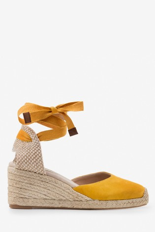 ef9fa2bf03e Boden Yellow Cassie Espadrille Wedges