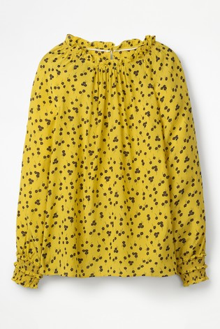 00204bcd83446 Buy Boden Yellow Sadie Silk Top from Next Ireland
