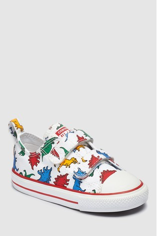 e9c76ccfd481 Buy Converse White Infant Dino Trainer from Next Ireland