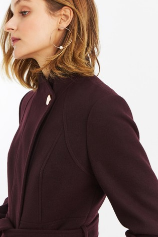 a1c46e8b0f1f Buy Oasis Burgundy Magnolia Panel Fitted Coat from Next Ireland