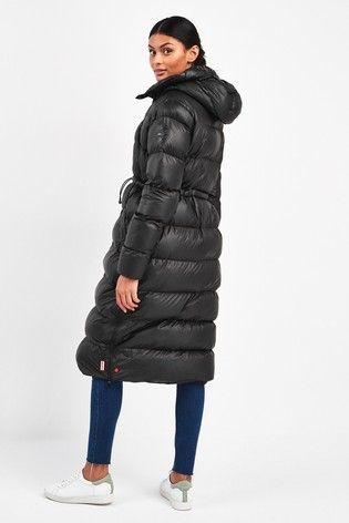 new concept casual shoes new list Hunter Women's Black Original Long Padded Coat