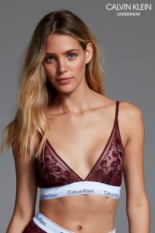a0cbd8c905 Buy Calvin Klein Red Modern Cotton Lace Triangle Bra from Next Ireland