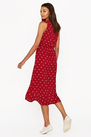 7c7d3b0a3540 Buy Oasis Red Spot Wrap Midi Dress from Next Slovakia