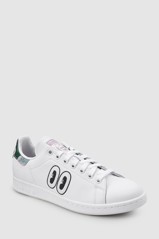 san francisco 088b6 170d2 adidas Originals White Eyes Stan Smith ...