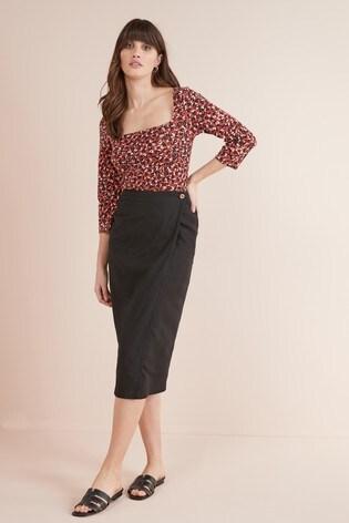 749709e1cc Buy Linen Blend Midi Skirt from the Next UK online shop