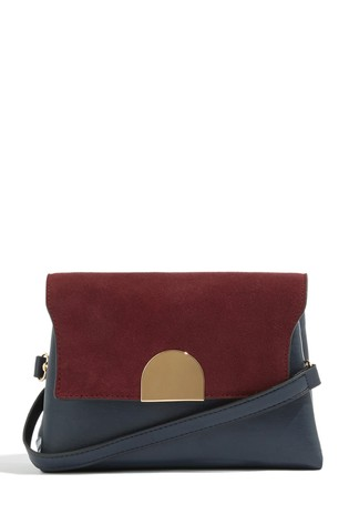 ca76b3140836 Buy Oasis Blue Tallulah Suede Patched Cross Body Bag from Next Ireland