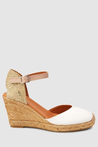 eba11260c0a Buy Kurt Geiger White Leather Monty Wedge from Next Germany