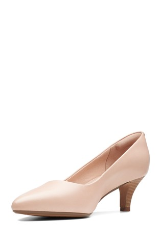 b54e95fcc7 Buy Clarks Wide Fit Nude Linvale Jerica Shoe from the Next UK online ...