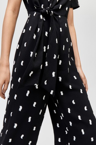 c8d638863a Buy Warehouse Black Brushstroke Culotte Jumpsuit from the Next UK ...