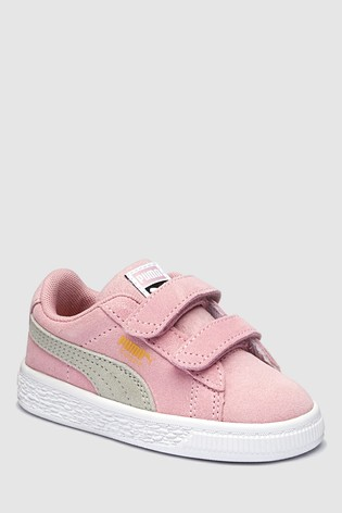 a931570149c Buy Puma® Pink Suede Classic Infant Velco Trainer from the Next UK ...