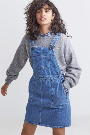 716ad6370 Buy FatFace Blue Corin Denim Pinafore Dress from the Next UK online shop