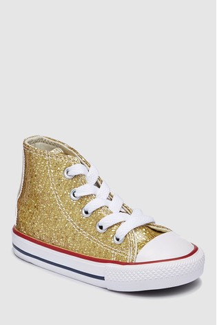 b274d17572116 Buy Converse Infant Sequin Chuck Ox High Top Trainer from Next Slovakia