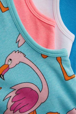 49cb82f72654 Buy Flamingo Stacking Vests Four Pack (3-16yrs) from Next Ireland